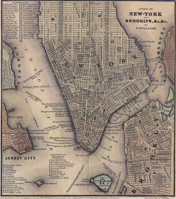 1847 map of lower Manhattan