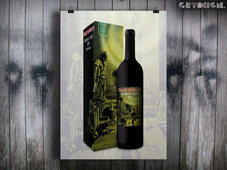 Iron Maiden Running Free wine!