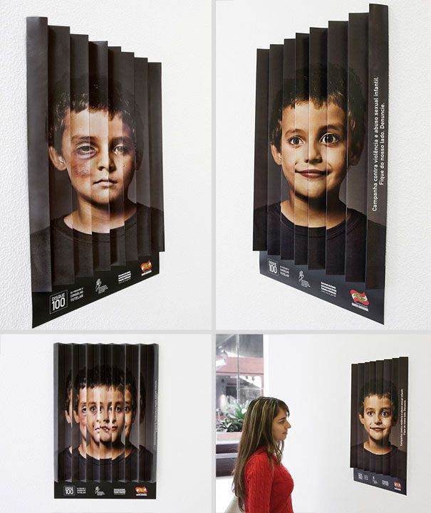 Campaign against violence and child sexual abuse. Stay on our side. Report it. (Advertising Agency: Propague Comunicação, Florianópolis, Brazil
