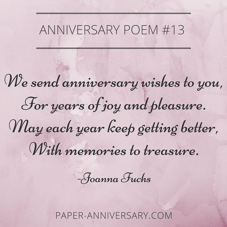 13 Beautiful Anniversary Poems to Inspire - Click through to get inspiration for your anniversary card or love letter!