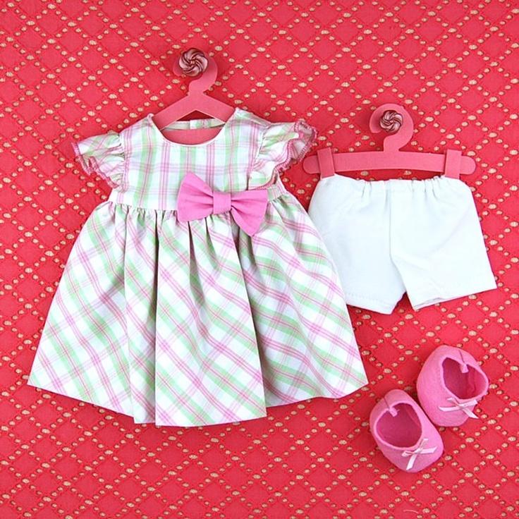 Handmade doll clothing 15 inch Doll Bubble Dress