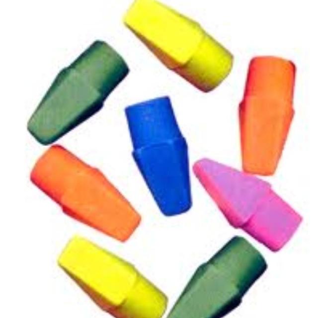 Old school erasers