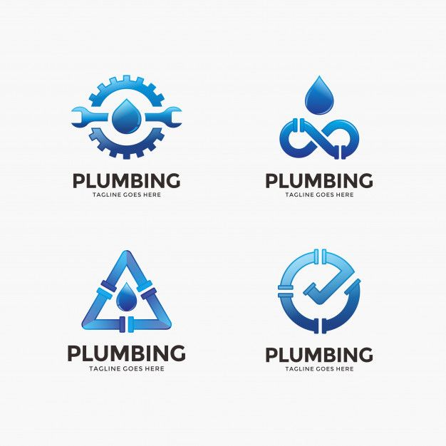 Water, plumbing logo design template for your company