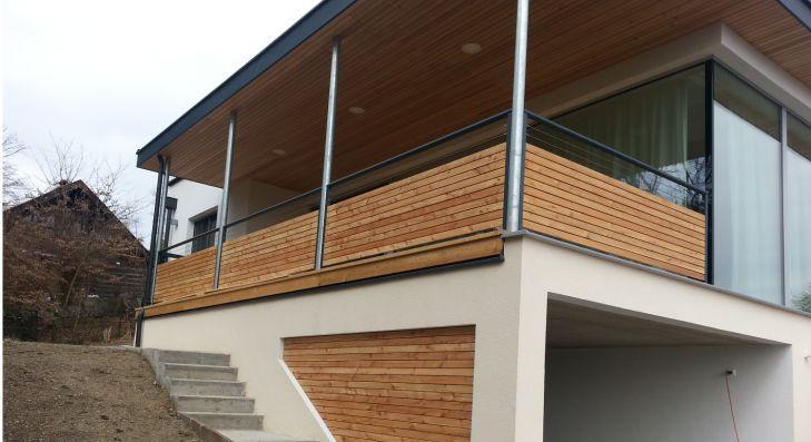 Balkongeländer - Alu-Holz Balkone