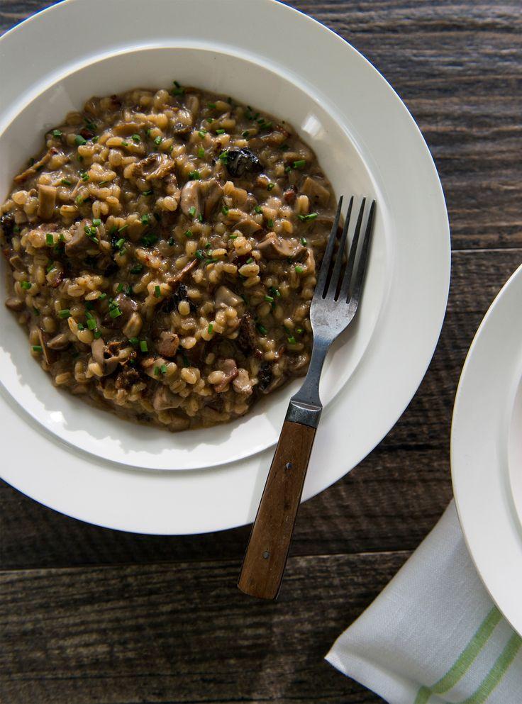 Recette de risotto d'orge aux champignons et au cheddar de Ricardo