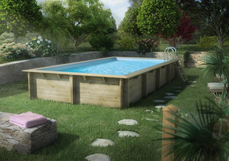 -Piscina in legno Wewa-  Nella scelta di una piscina fuori terra possedere una piscina in legno, significa essere al passo con i tempi, essere ecologici. #piscina #legno #wood #