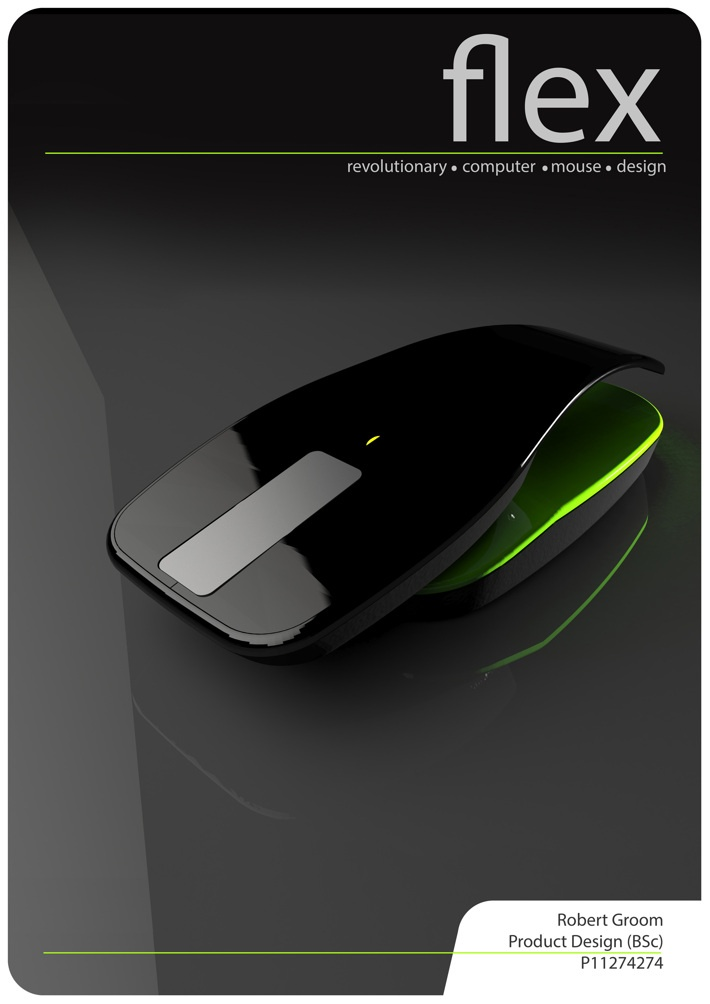 Flex Ergonomic Computer Mouse by Robert Groom, via Behance