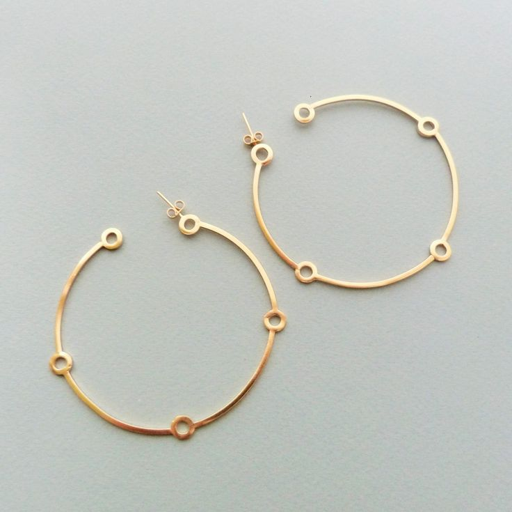 Large atomic hoops in gold // Minimal luxe handmade jewellery by Elin Horgan