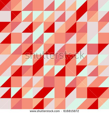Vector red abstract triangle seamless pattern texture background