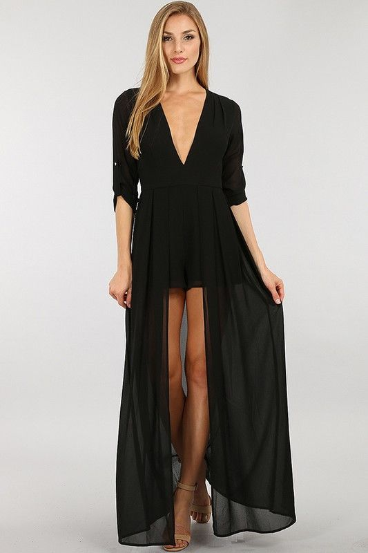 Maxi dress in fall essentials
