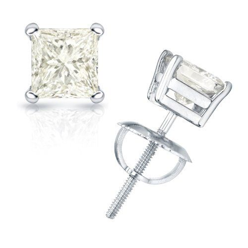 3/4 cttw Princess-Cut Diamond 4-Prong Stud Earrings Platinum with Screw Backs (J-K Color, I2-I3 Clarity) Banvari. $918.50. Made in USA, comes with a FREE certificate of authenticity.. This product comes with a FREE Luxurious Cherrywood Gift Box.. All diamonds used in our jewelry are conflict free and 100% in compliance with the Kimberly Code of Conduct.. All our gold items are responsibly sourced and the majority is made from environmentally processed recycled gold.. Free Prior...