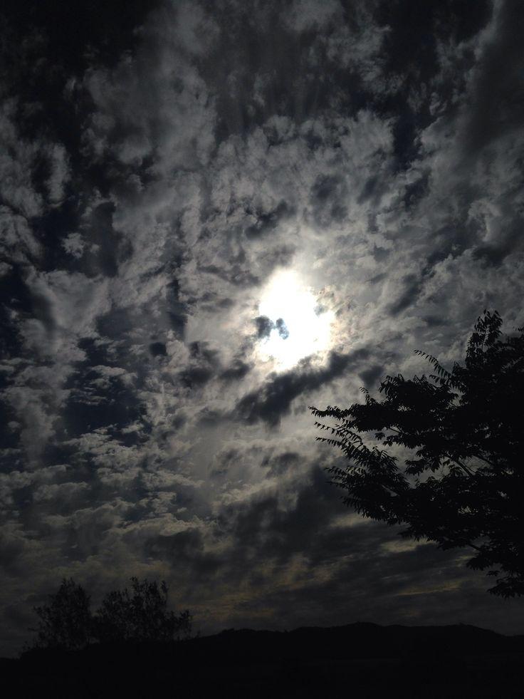 하늘 이쁘네