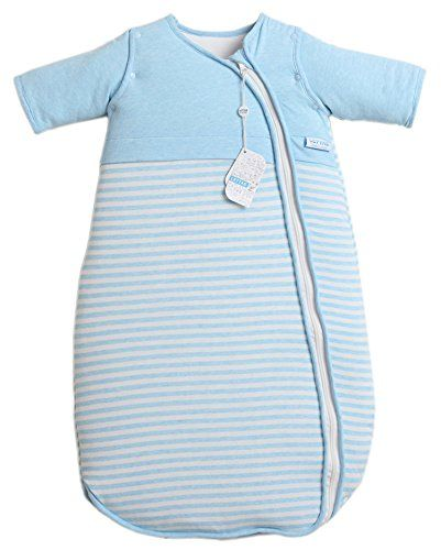 LETTAS Unisex Baby Winter Cotton Removable Long Sleeve Zip up Sleeping Bag Thicken Blue M (6-18 months) - $45.00