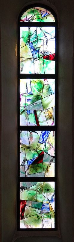 Stained Glass but could also be done as a mosaic