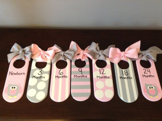 Perfect Baby Shower Gift    Closet dividers are an attractive and great way to organize all the cute baby clothes by sizes.    All of my closet