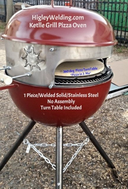 Weber Pizza Oven Sleeve For Kettle Grill by GarageShopWelding