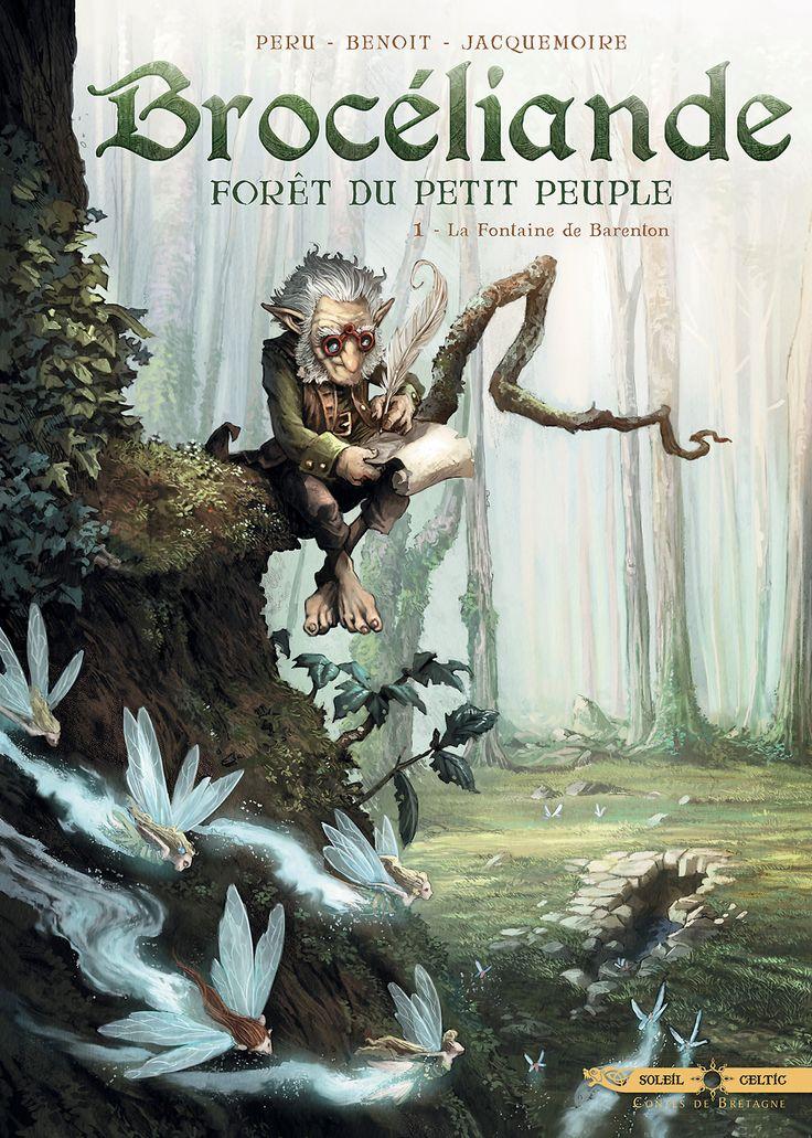 """""""7 histoires liées au petit peuple au sein de la mythique forêt de Broceliande.""""  Des Korrigans ont enfin trouvé le moyen d'obliger Orignace à leur écrire une histoire. Ils veulent que le Teuz invente un conte dans lequel eux auraient un beau rôle, mais Orignace est en panne d'inspiration. Et alors qu'il cherche des idées dans la forêt de Brocéliande, il assiste aux débuts de la passion entre Merlin et Viviane…"""