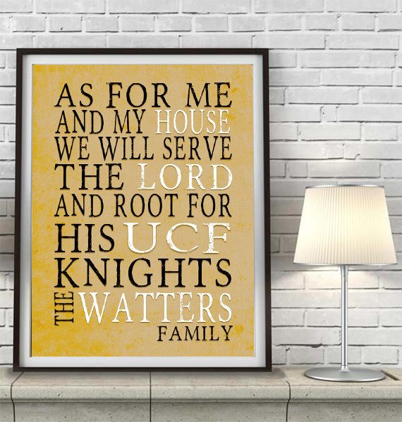 University Of Central Florida Celebrate Your Favorite School And All Its Traditions With This Beautiful Print