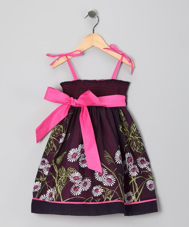 Take a look at this Midnight Bloom Dress - Toddler & Girls by Sophie Catalou on #zulily today!