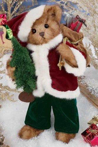 """This very special bear plays the Christmas classic """"Up on the Housetop."""" He is the 10th addition to Bearington's series of Limited Edition Holiday Musical Bears. Pre Order by March 31, 2012 to ship in August 2012!"""