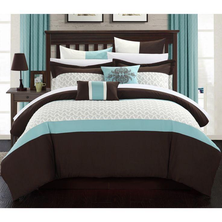 Chic Home Luana Brown Comforter 8-Piece Set