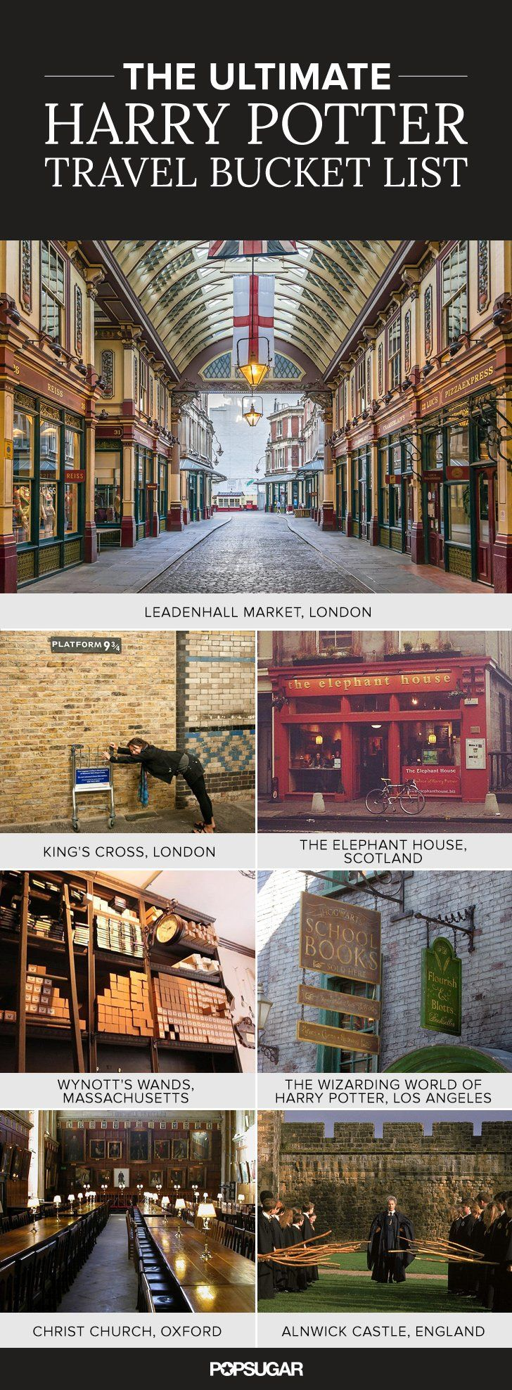 The Ultimate Harry Potter Travel Bucket List Leaden hall market Kings cross CHECK
