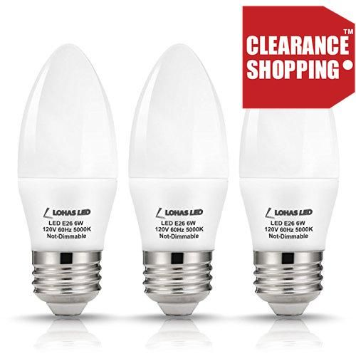 #sale Specifications: Condition: #Brand new Package include: 3 pieces of 6W LED Candle Light Bulbs Wattage: 6 Watt (60 Watt Traditional Light Bulbs) #Input Voltag...