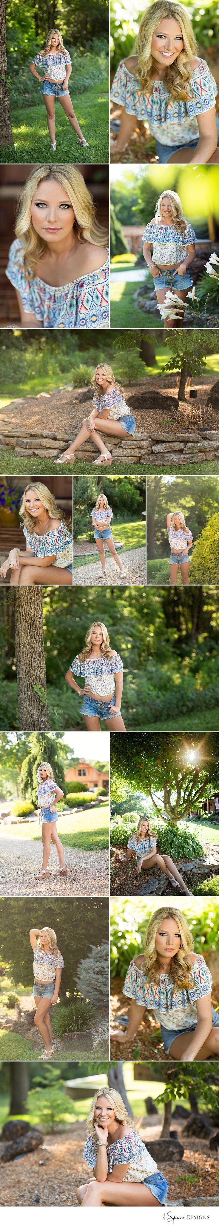 d-Squared Designs St. Louis, MO Senior Photography, Summer senior girl. Gorgeous senior. Summer senior outfit. Country senior girl. Golden hour. Daisy dukes. Senior posing.