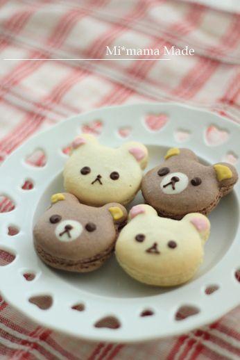 Macaroon bear cookies