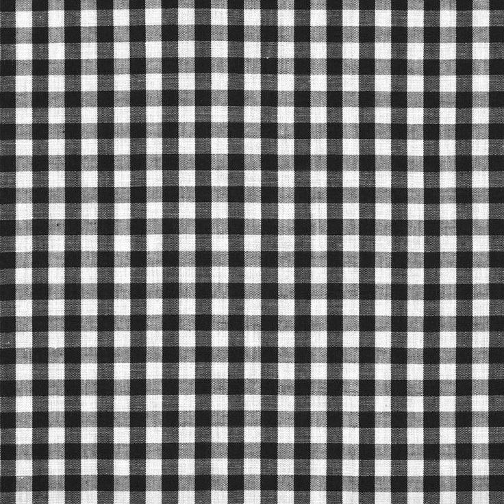 "1/4"" Black Gingham Fabric - Image 1"