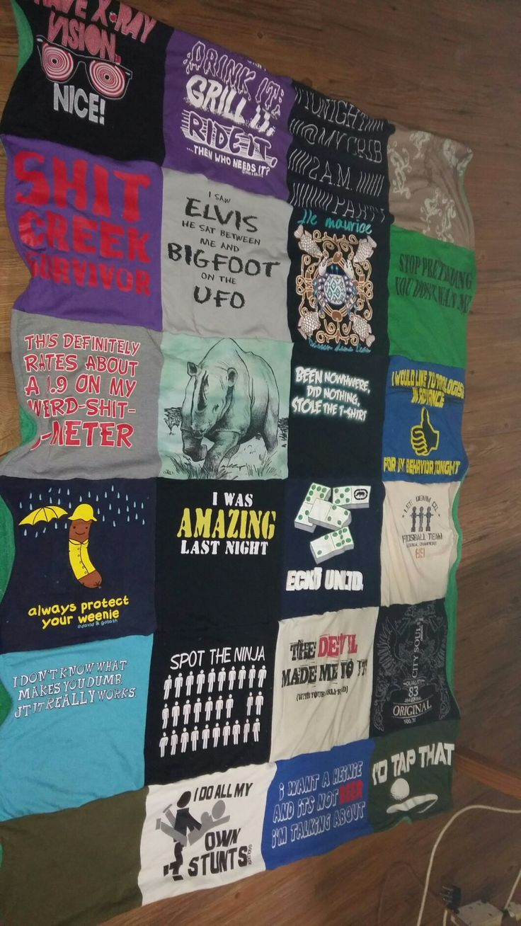 my latest T-Shirt blanket:)