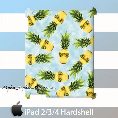 Pineapple on Clouds iPad 2/3/4 Case Cover Hardshell