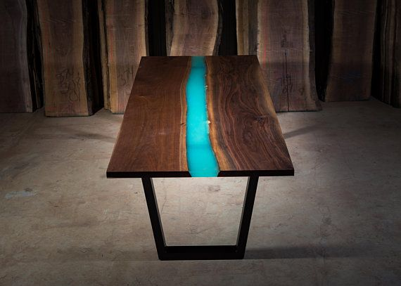 Glow in The Dark Epoxy Resin Table