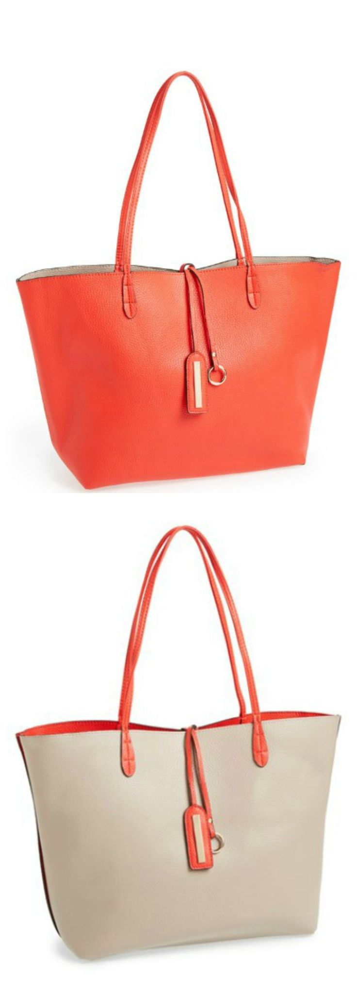 One bag, two ways! Love the versatility of this tote.
