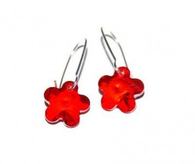 Kolczyki Kwiatki Swarovski Crystallized Flower. 11 kolorów #Swarovski #jewelry #bizuteria