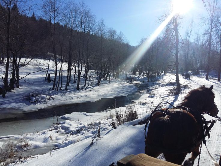 Winter in Vama Buzaului, Ciucas Mountains, Pastel Chalet