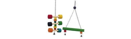 Juguetes y accesorios para pájaros al mejor precio en la tienda de mascotas online Wakuplanet.com