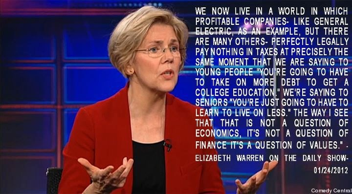 Elizabeth Warren for President...I would work my ass off to get this woman in office !!