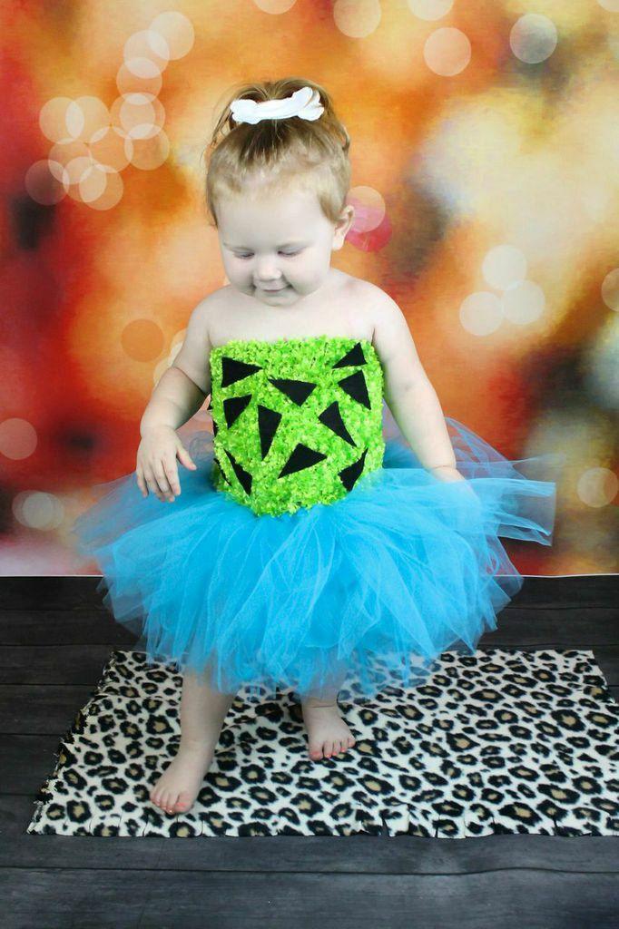 Pebbles tutu Set halloween Costume Flintstones tutu First halloween Baby Girl dress up by BowPeepsAndMore on Etsy