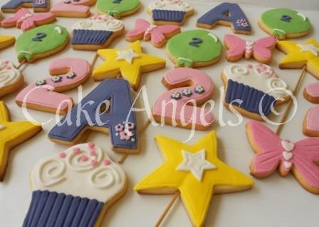 Girly Cookies for 2nd Birthday Party