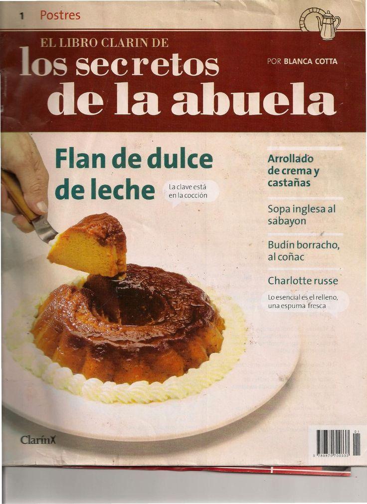 Los secretos dla abuela1  Revista del tema Postres Blanca Cotta