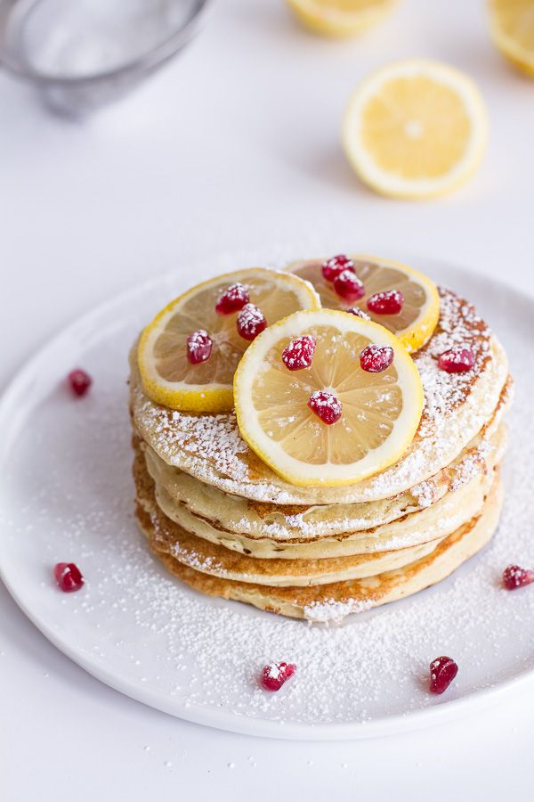 Lemon Ricotta Pancakes. I'm on a breakfast kick, here, but I think this tops the list of delicious breakfasts I want to try out. If only I can wake up in time...