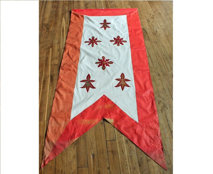 Antique Religious Banner / Vintage Cross flag / Hand made Large Church Textile / French Wall Hanging /Christian Flag/bretagne hermine flag by PetitMignonGrandBeau on Etsy