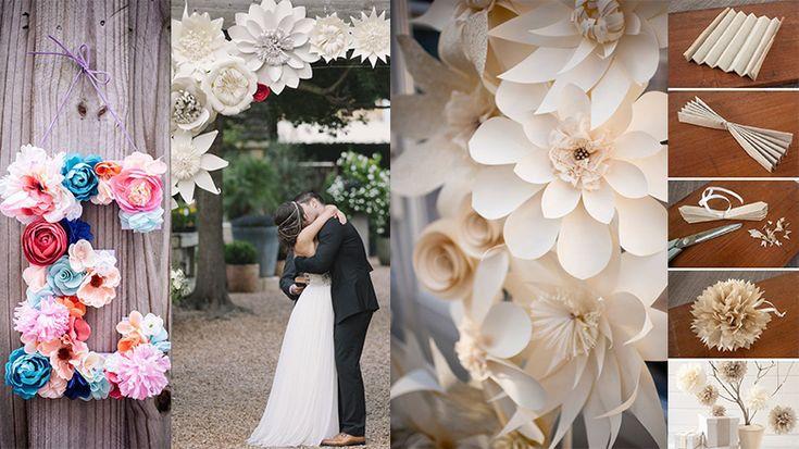 49 best images about decoraciones con flores de papel on for Decoracion navidena con papel
