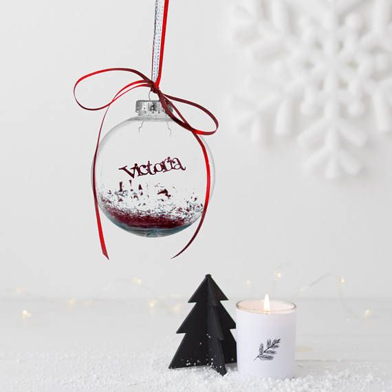 Personalised Papercut Bauble   Christmas Name Ornament