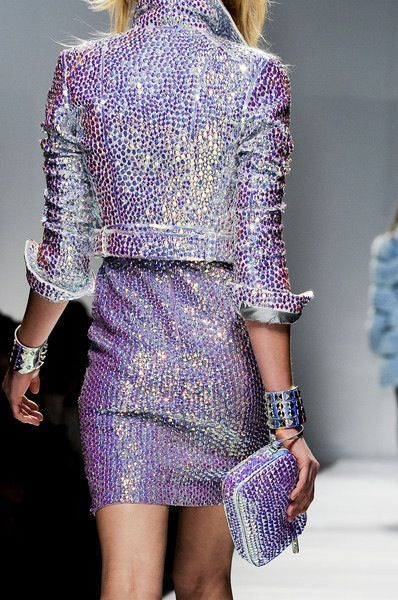 Saturday night sparkles in hues of lavender.
