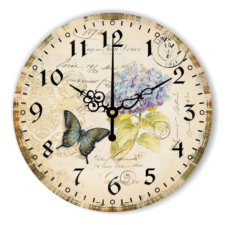 Vintage Decorative Wall Clock Home Decor Warranty 3 Years Beautiful Butterfly Wall Decoration Clock Watch More Silent Gifts