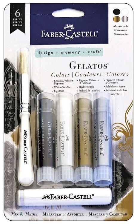 Faber-Castell - Mix and Match Collection - Color Gelatos - Masquerade - 6 Piece Set at Scrapbook.com