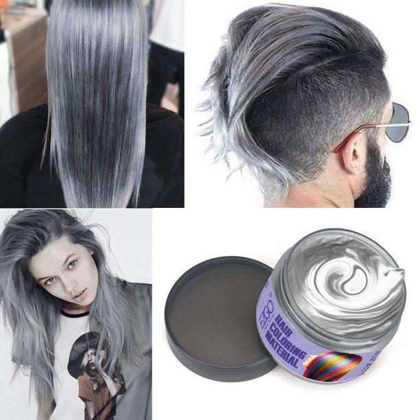 Hair Wax 4 Colors Kit Temporary Hair Color Easy To Rinse Out Hair Coloring Mud Dye Cream Gray Blue White Purple Walmart Com In 2020 Grey Hair Wax Hair Wax Silver Grey Hair