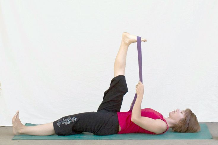 10 Morning Yoga Poses That Will Wake You Up: Reclined Big Toe Pose - Supta Padangustasana